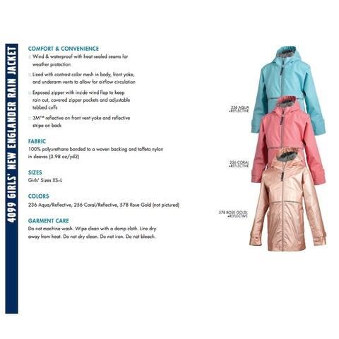 Charles River Girls Rain Coat Assorted Colors