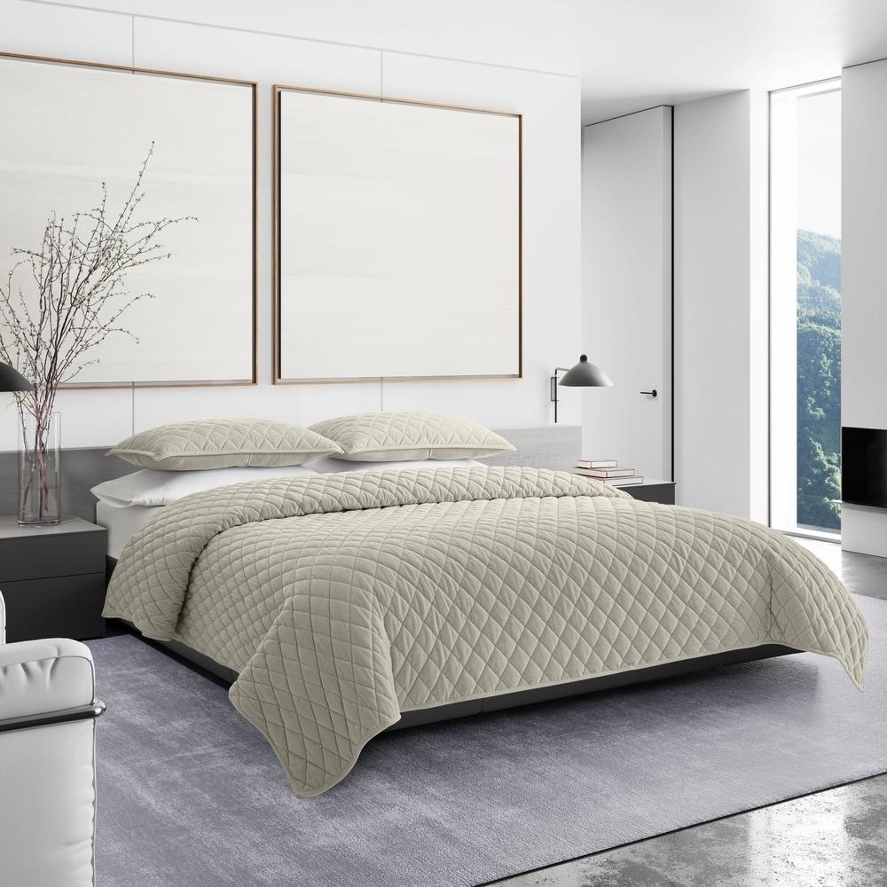 Vera Wang Luster Bedding Standard Natural