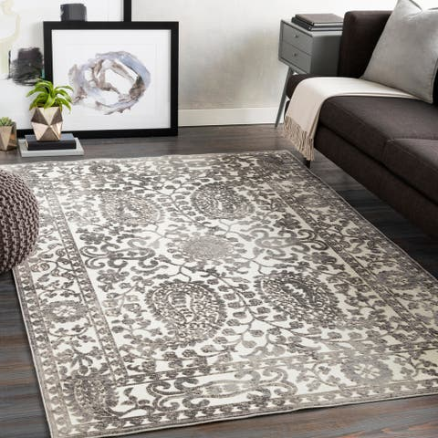 Galterio Distressed Paisley Area Rug
