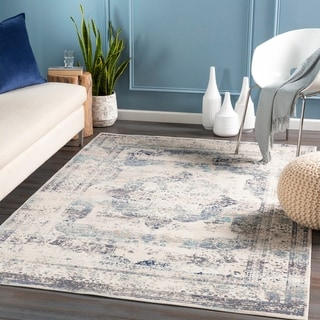 Mairona Distressed Medallion Area Rug