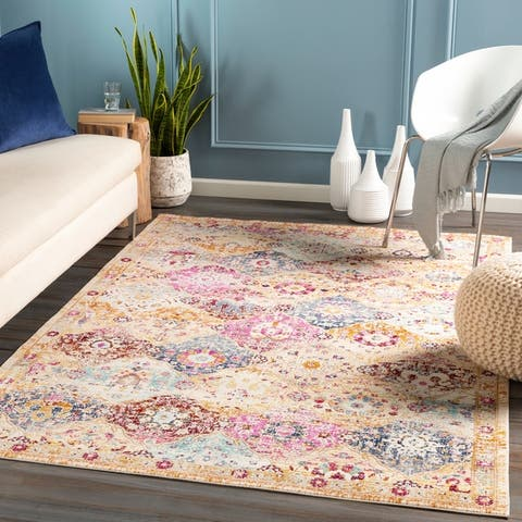 Jaul Distressed Moroccan Patchwork Area Rug
