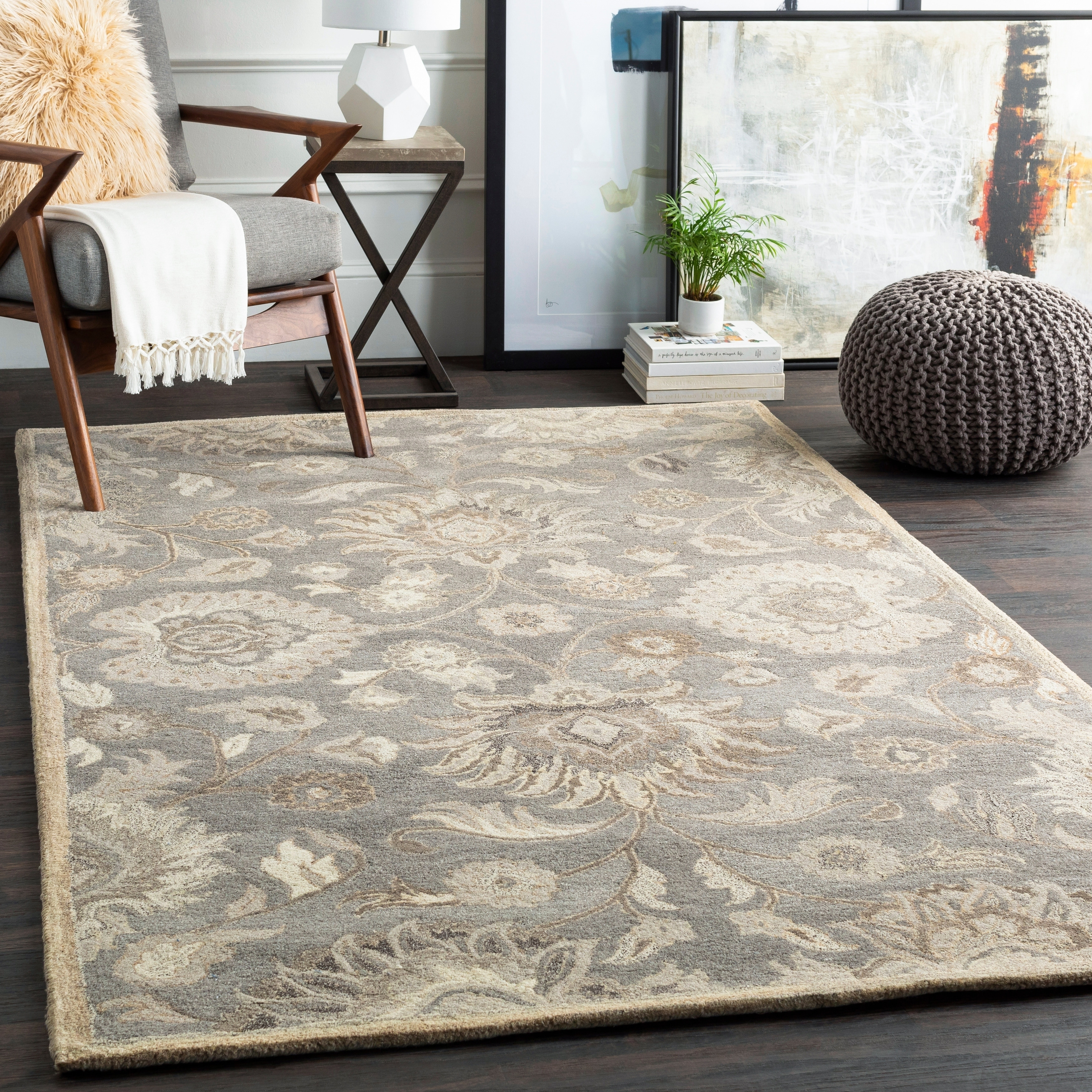 Shop Hand Tufted Patchway Wool Rug 8 X 10 Oval 8 X 10 Oval Overstock 29558795