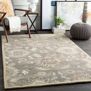 Hand-Tufted Patchway Wool Rug - 8' x 10' Oval