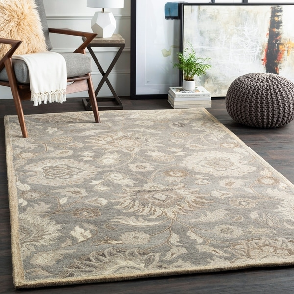 Hand-Tufted Patchway Wool Rug - 6' x 9' Oval