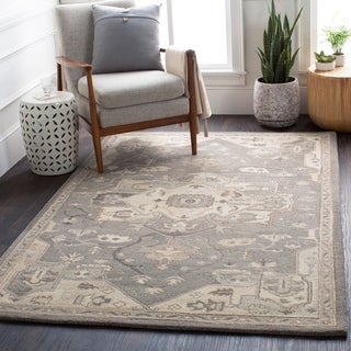 Hand-tufted Misty Traditional Wool Area Rug