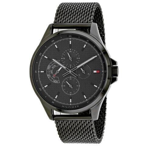 Tommy Hilfiger Men's 1791613 'Shawn' Black Stainless Steel Watch