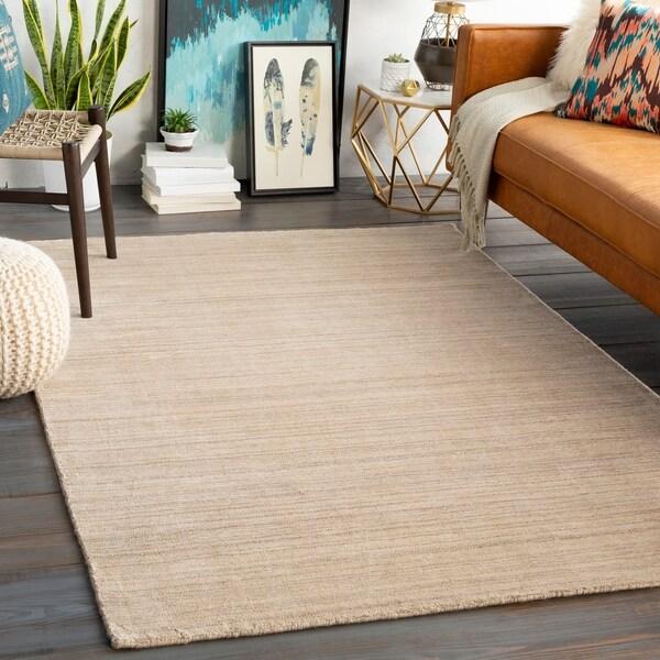 Viteri Handmade Solid Wool Blend Area Rug