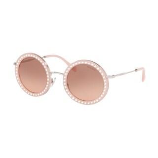 Miu Miu MU 59US 1530A5 48 Opal Pik Woman Round Sunglasses