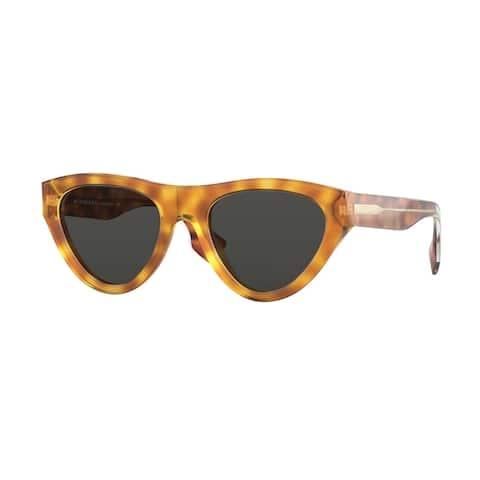 Burberry BE4285 379487 52 Light Havana Woman Irregular Sunglasses