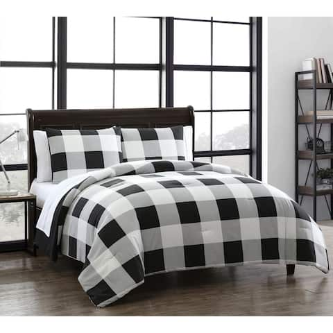 Carbon Loft Kebo Buffalo Plaid Reversible 7-piece Bed in a Bag