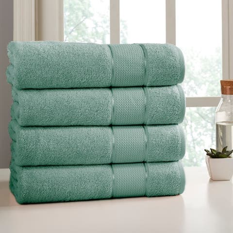 Amrapur Overseas 4 Pack SpunLoft Bath Sheet - 35x66
