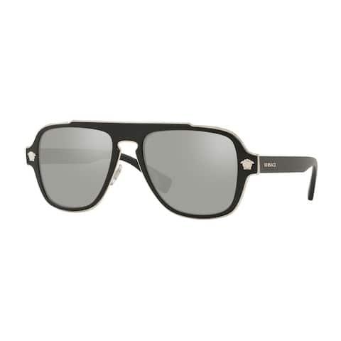 Versase VE2199 10006G 56 Matte Black Man Irregular Sunglasses