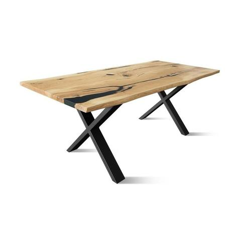 RUBAN-BL Solid Wood Dining Table