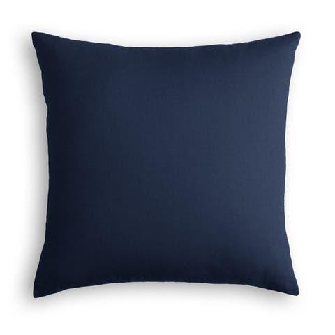 Dark Red-Orange Linen Throw Pillow