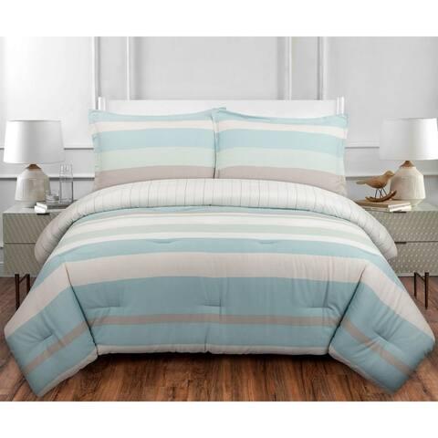 Nouvelle Home Coastal Stripe Cotton Comforter Set