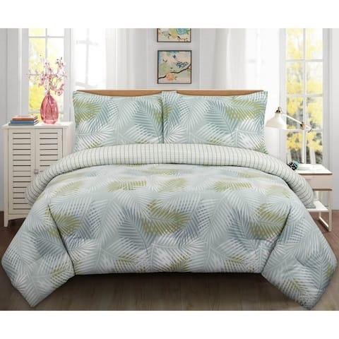 Nouvelle Home Palms Cotton Comforter Set