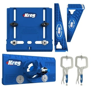 Kreg Hardware Installation Kit with Jigs and Two 2-Inch Face Clamps