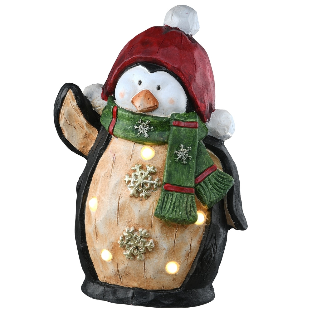 RESIN CHRISTMAS GLITZ SNOWMAN FIGURINES BRIGHT XMAS COLORS WITH GOLD GLITTER
