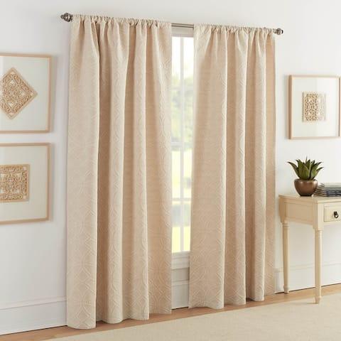 Realeza Bogart European Matelasse Curtain Panel Pair