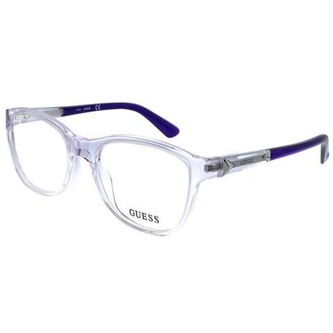 Guess GU 2562 078 51mm Unisex Crystal Violet Frame Eyeglasses 51mm