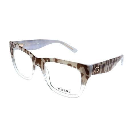 Guess GU 2595 047 52mm Womens Leopard Crystal Frame Eyeglasses 52mm