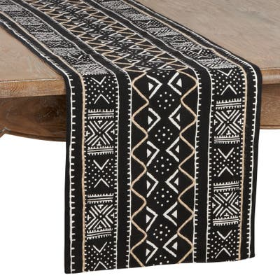 Cotton Mud Cloth Table Runner