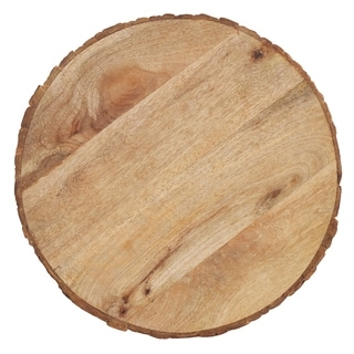 Wood Charger Plates With Bark Edge Design (Set of 4)