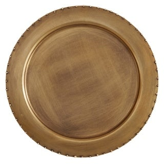 Dot Rim Metal Charger Plates (Set of 4)