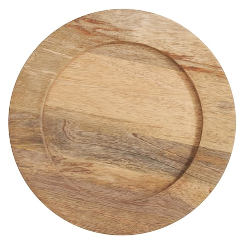 Wood Charger Plates (Set of 4)
