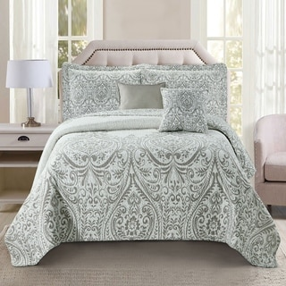 Link to Serenta Visionary Gray Printed Microfiber 5 Piece Quilts Set Similar Items in As Is
