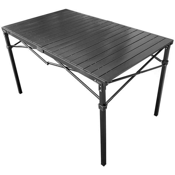 Goteam Portable Heavy Duty Aluminum Roll Top Table