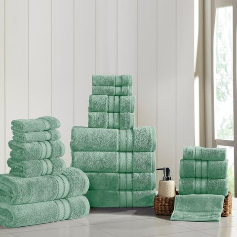Amrapur Overseas 18-Piece SpunLoft Towel Set - N/A
