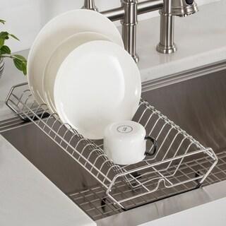 KRAUS Workstation Kitchen Sink Dish Drying Rack in Stainless Steel