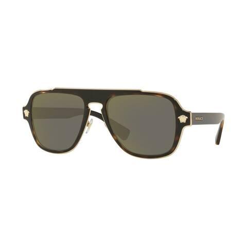Versase VE2199 12524T 56 Dark Havana Man Irregular Sunglasses - Tortoise