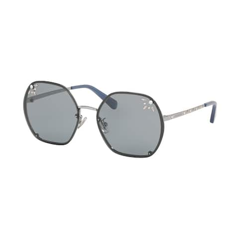 Coach HC7095H 9004/1 57 Shiny Gunmetal Woman Irregular Sunglasses