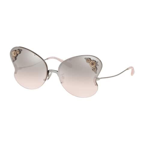 Coach HC7103 90048Z 64 Shiny Gunmetal Woman Butterfly Sunglasses