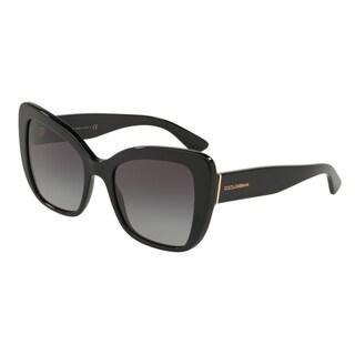 Dolce & Gabanna DG4348F 501/8G 54 Black Woman Butterfly Sunglasses