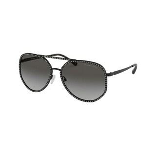 Michael Kors MK1039B 106111 58 Matte Black Woman Pilot Sunglasses