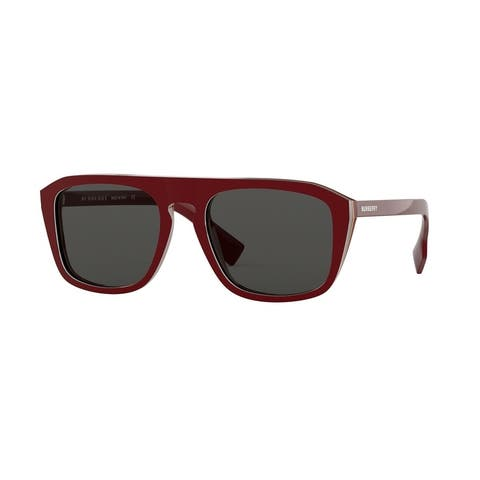 Burberry BE4286 380087 55 Check Multilayer Bordeaux Man Square Sunglasses