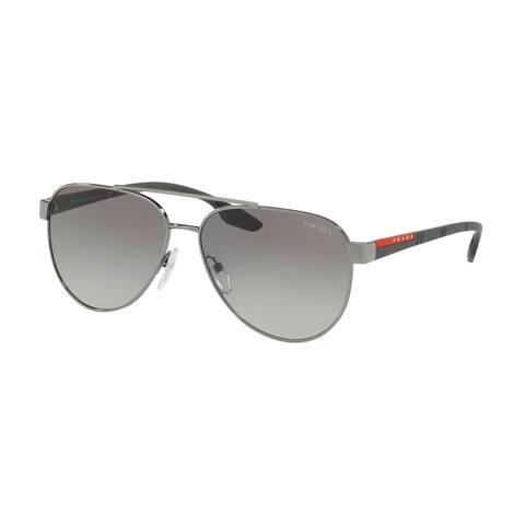 Prada Linea Rossa PS 54TS 5AV3M1 58 Gunmetal Man Pilot Sunglasses