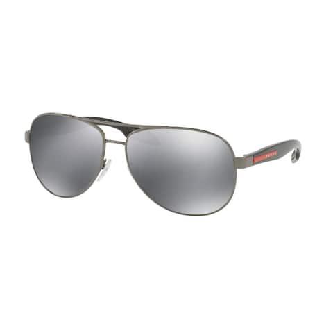 Prada Linea Rossa PS 53PS 5AV5L0 62 Gunmetal Man Pilot Sunglasses
