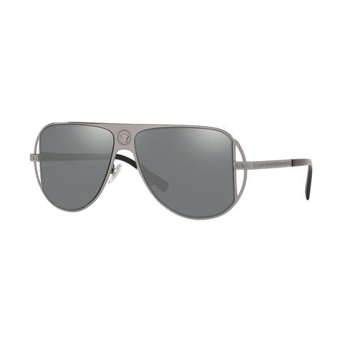Versase VE2212 10016G 57 Gunmetal Man Pilot Sunglasses