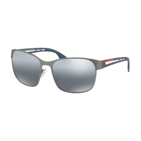 Prada Linea Rossa PS 52TS DG12F2 59 Gunmetal Rubber Man Pillow Sunglasses