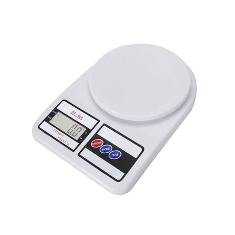 10KG/0.1g Kitchen Mail LCD Digital Scale White