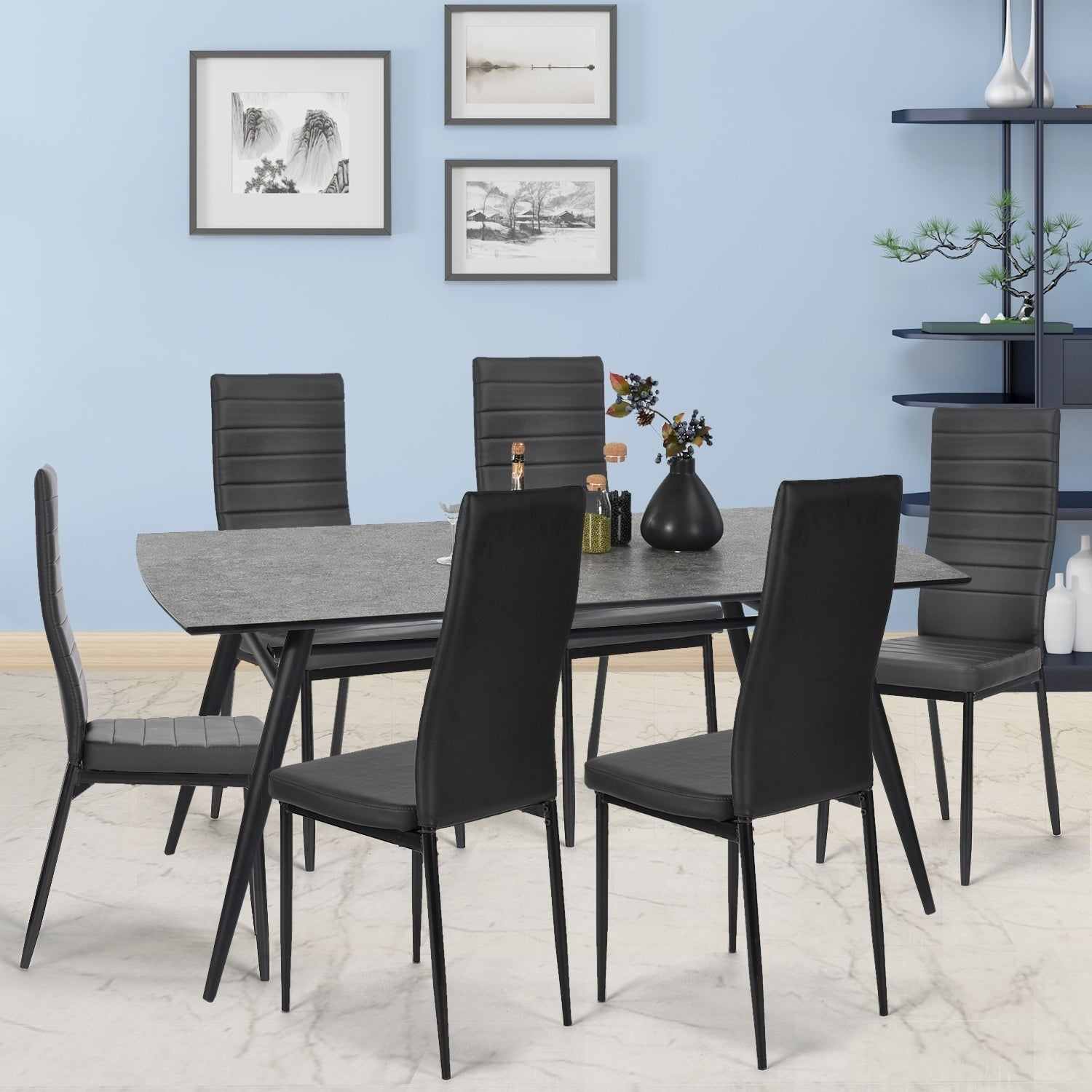 Picture of: Carson Carrington Saivis 7 Piece Modern Kitchen Dining Table Set On Sale Overstock 29574918