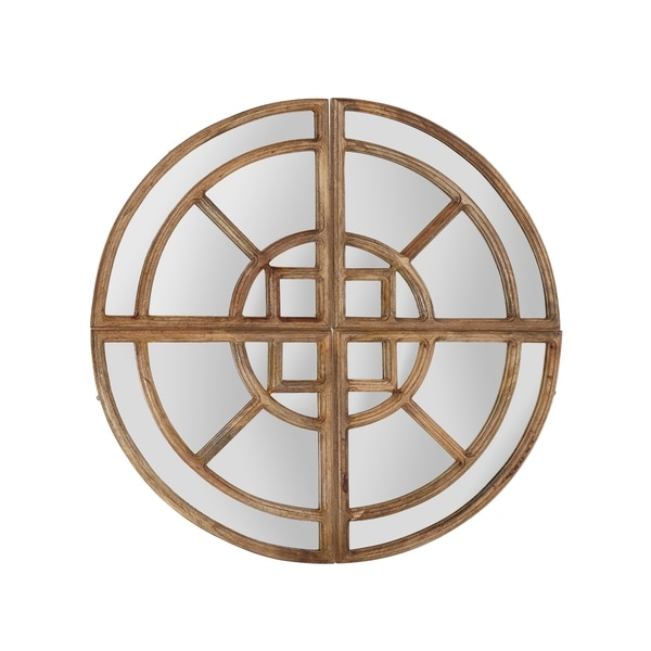 """Endicott Rustic Round Pie Mirror by Christopher Knight Home - 30.50"""" W x 0.75"""" D x 30.50"""" H"""