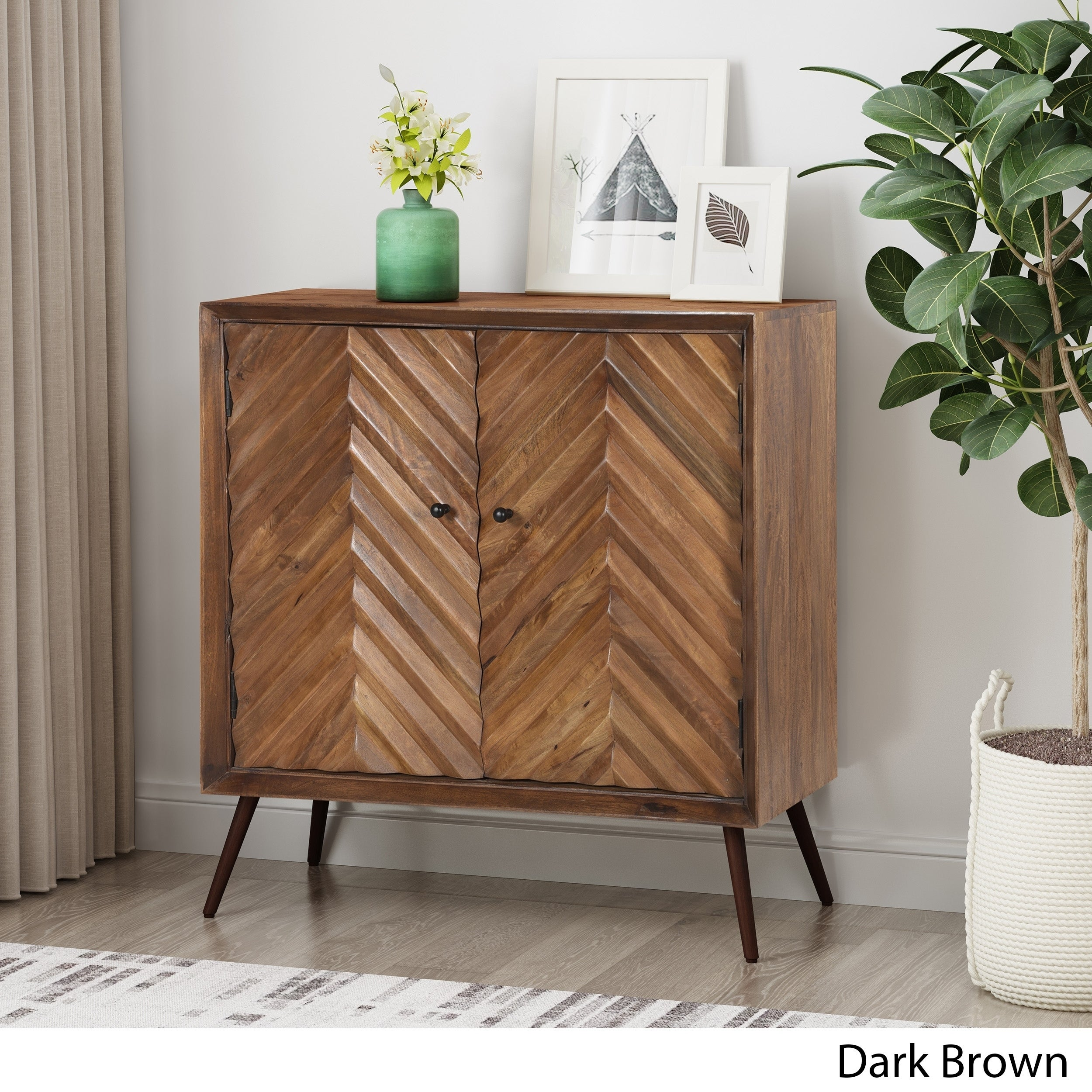 Picture of: Shop Harrington Mid Century Modern Handcrafted Mango Wood Sideboard By Christopher Knight Home Overstock 29574934