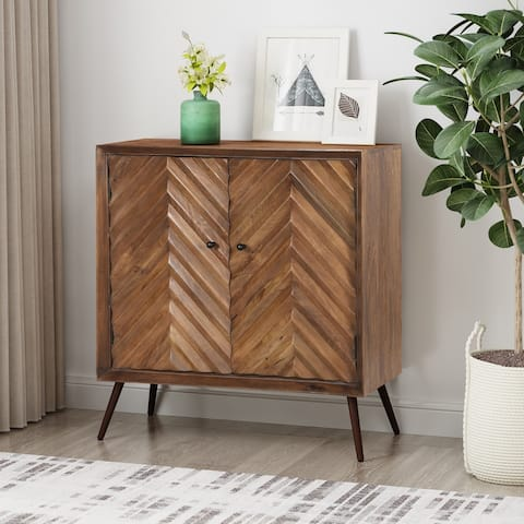 Harrington Mid-Century Mango Wood Sideboard by Christopher Knight Home