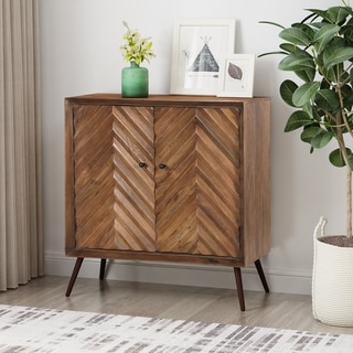 Harrington Mid-Century Modern Handcrafted Mango Wood Sideboard by Christopher Knight Home