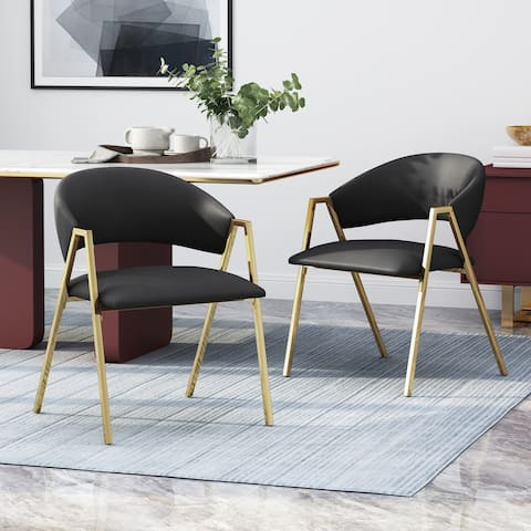 Gazo Modern Upholstered Dining Chair (Set of 2) by Christopher Knight Home